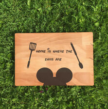 MICKY MOUSE EARS HOME DISNEY LASER ETCHED/ENGRAVED WOODEN CHOPPING BOARD