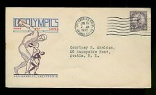 1932 Los Angeles Olympics 718-10 1st Decker Cachet Arcade Station #10 cancel