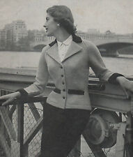 Vintage Knitting Pattern 1950s Lady's Tailored Jacket/Cardigan.