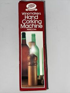Winemakers Hand Corking Machine With Corks, Labels And Shrink Wrap Capsules