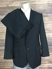 Hugo Boss Suit Mens 40S 34x28.5 19C009 Navy Pinstripe Sweet2/Sharp2 Trim Fit