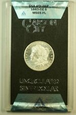 1883-CC GSA Morgan Silver Dollar $1 ANACS MS-65 PL Proof-Like with Box & COA