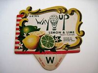 "Vintage Advertising Sign for ""Way Up"" Lemon & Line Drink w/ Air Balloon *"