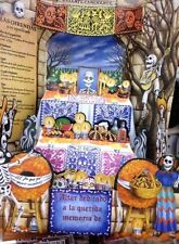 DAY OF THE DEAD 3 D LARGE ALTAR DIA DE LOS MUERTOS JALISCO MEXICO FREE SHIPPING
