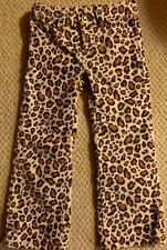 🌸Gymboree Girls Size 4 Parisian Chic Leopard Jeans Pants No Wale Corduroy Euc