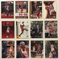 Upper Deck 1995-2003 Michael Jordan Chicago Bulls Basketball Cards Lot of 12