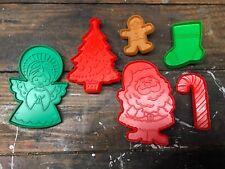 Lot of 6 Vintage 1980s Christmas Hallmark Plastic Cookie Cutters