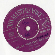 "Elvis Presley - I'm Left You're Right She's Gone 7"" Single 1958"