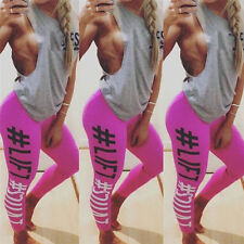 Women Yoga Set Running Bra&Pants Gym Workout Fitness Clothes Tights Sport Wear v