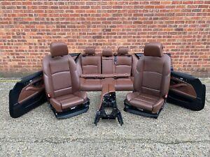 BMW 5 SERIES ESTATE F11 PRE LCI M SPORT HEATED HALF ELECTRIC BROWN SEATS SET OEM
