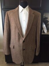 VINTAGE TWO BUTTON HARRIS TWEED SPORTS COAT PURE SCOTTISH WOOL