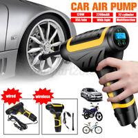 Digital Tire Inflator Electric Air Pump Compressor LED Portable Car Auto