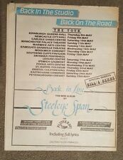 Steeleye Span back in  Tour 1986 press advert Full page 33 x 43 cm mini poster