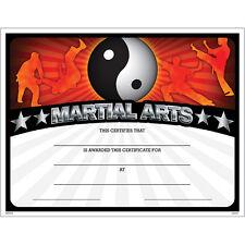 Martial Arts Award Certificate, Pack of 15