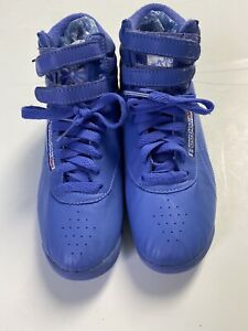 NWOB Reebok Classic high rise Blue Freestyle Women US Size 7 authentic repro