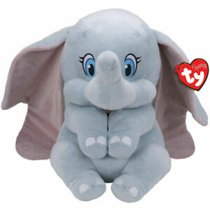 "TY DUMBO THE ELEPHANT SOFT PLUSH TOY WITH ELEPHANT SOUNDS - 10"" 26CM  BUDDY SIZE"