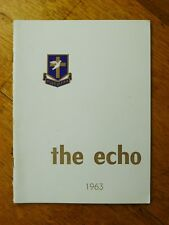 The Echo: Immanuel College Magazine Vol. 39, 1963, South Australian history