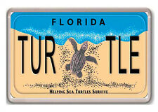 FLORIDA LICENSE PLATE HELPING SEA TURTLE SURVIVE FRIDGE MAGNET NEW