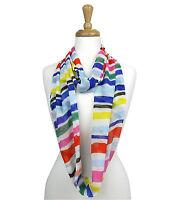 Stripe Infinity Scarf Chffon womens loop circle fashion jersey light weight