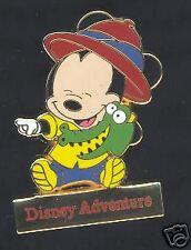 Disney Adventure Tokyo Yellow Baby Mickey Crocodile Pin