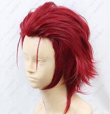 121 K SUOH MIKOTO Short Dark Red Cosplay Wig free shipping + wig cap