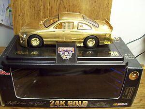 ERNIE IRVAN SKITTLES 1/24 SCALE 24K GOLD 1 of 4998 NASCAR 1998 CAR