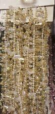 CHRISTMAS XMAS DIAMOND BEAD TREE DECORATION GARLAND 2.7M  3M LONG CRYSTAL CHAIN