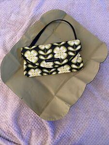 Petunia Pickle Bottom PPB Small Diaper Bag Purse Clutch Gray/Dreen Flowers
