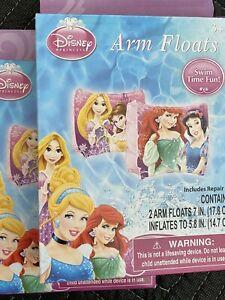 Disney Princess Inflatable Arm Floats Cinderella Little Mermaid Set Of 2 Pairs