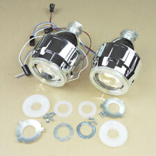 2.5'' H1 HID Bi-xenon Projector Lens Hi/Lo Beam white Angel Eyes for H4 H7 Car
