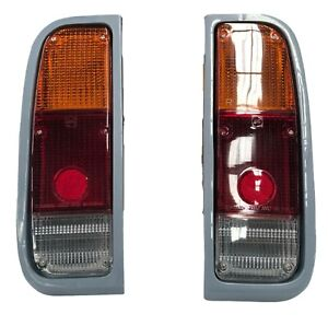 COMPLETE REAR TAIL LIGHTS FOR TOYOTA HILUX RN20 RN22 RN25 RN27 PICKUP TRUCK PAIR