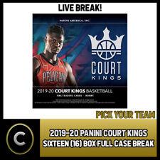 2019-20 PANINI COURT KINGS 16 Caja (completo Funda) romper #B453 - Elige Tu Equipo