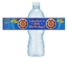 12 Nerf Gun Wars Target Birthday Party Baby Shower Water Bottle Stickers Bullets