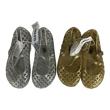 Old Navy NWT Jellies 10 Toddler Girls Bundle Gold Silver Sandals