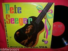 PETE SEEGER Songs of USA Live Concert 1972 LP FRANCE EX+ Bob Dylan