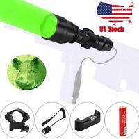 6000LM 250 Yard Green LED Flashlight Torch Light Lamp Weaver Picatinny Mount Gun