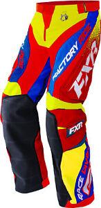FXR Hi-Vis Yellow/Nuke Red/Royal Blue Cold Cross Race Ready Snow Shell Pants