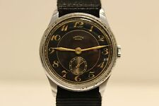 "VINTAGE RARE WW2 MILITARY STYLE SWISS MEN'S 34.5mm WATCH ""ORFINA"" ANCRE 15 J."