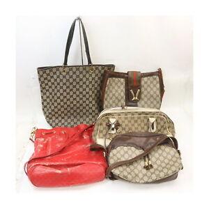 Gucci Canvas PVC Hand/Shoulder Bag 5 pieces set 526251