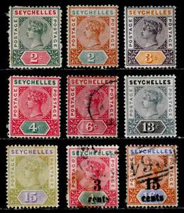 SEYCHELLES, BRITISH: 19TH CENTURY CLASSIC ERA STAMP COLLECTION