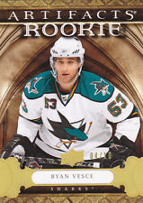 09-10 Artifacts Ryan Vesce /10 Rookie Gold Spectrum 2009 Sharks