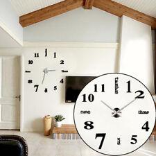 Design Wand Uhr Wohnzimmer Wanduhr Spiegel Wandtattoo XXL 3D Stylisch GOOD -01