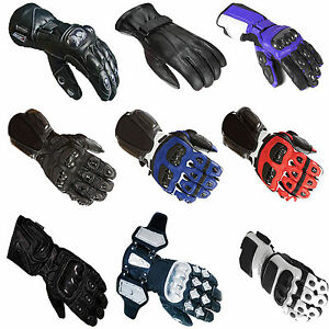 Men's Protective Motorcycle Motorbike Thermal Waterproof Hard Knuckle Gloves