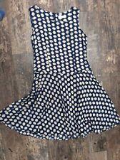 Artigiano silk dress - 14 - blue and ivory spots