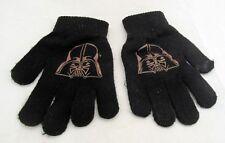 STAR WARS Darth Vader Black Knit Winter Gloves Mittens Kids One Size Boy Girl