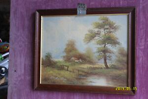 Landscape Oil on Canvas  - A. Stanton.?