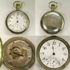 Working 1903 Waltham 87 18s 17j Silveroid Pocket Watch - Watchmaker Repair