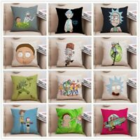Rick And Morty Cartoon Decorative Pillow Covers For Sofa Home Decor Cushion Case
