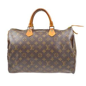 LOUIS VUITTON SPEEDY 35 HAND BAG PURSE MONOGRAM CANVAS M41524 VI871 72075