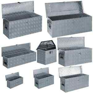 vidaXL Aluminium Box Silver Tool Cabinet Organiser Chest Trunk Multi Sizes